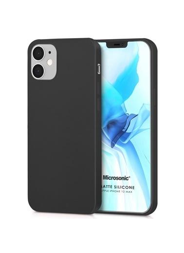 Microsonic Matte Silicone Apple iPhone 12 Mini Kılıf Siyah